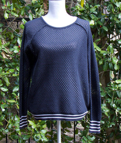 FISHNET TOP IN NAVY
