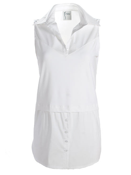 LAYERING SHIRT TANK - WHITE