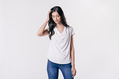 DRAPER SHORT SLEEVE TOP