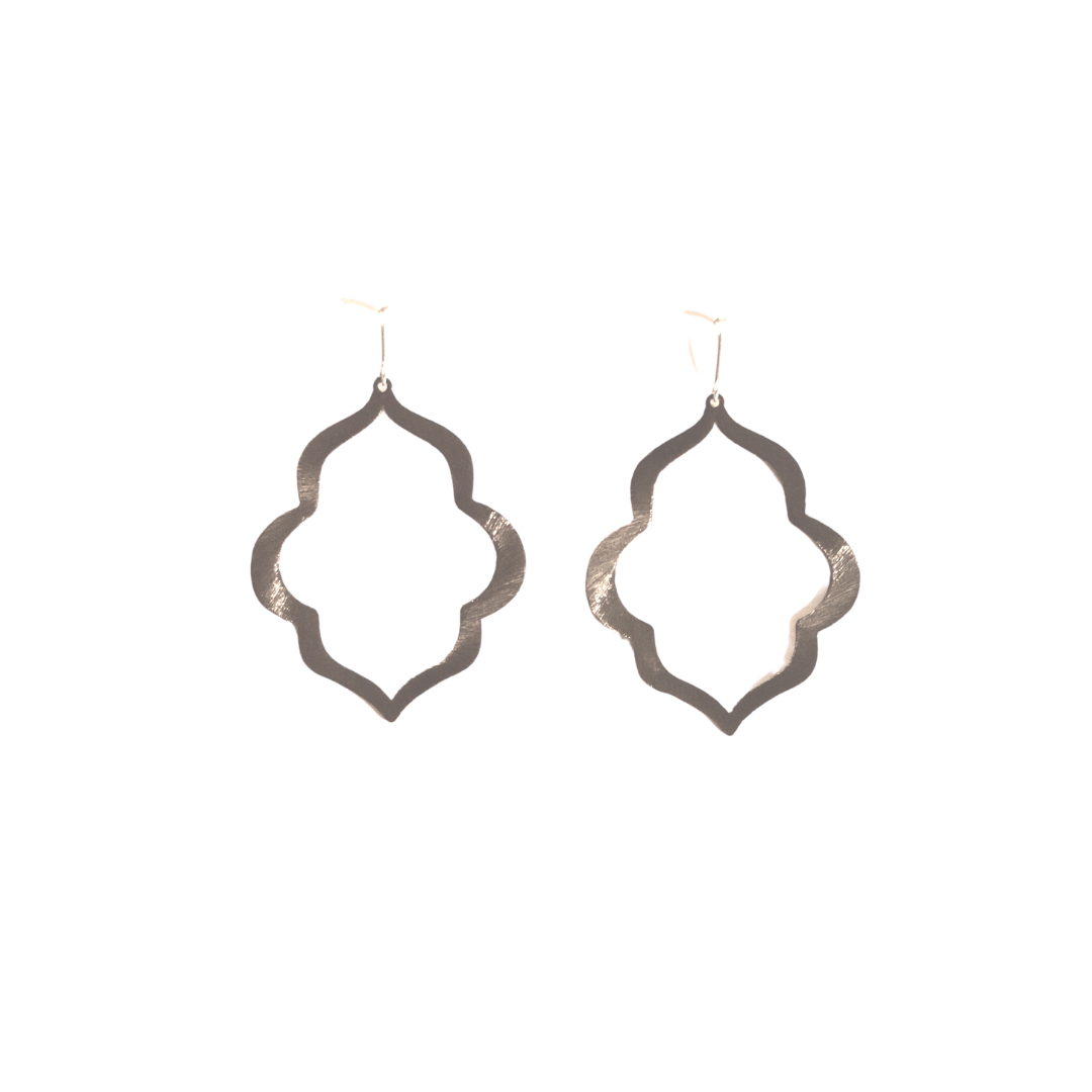 MOROCCO EARRINGS - GUN METAL