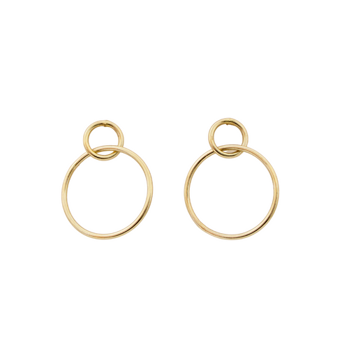 DOUBLE HOOP EARRINGS - GOLD