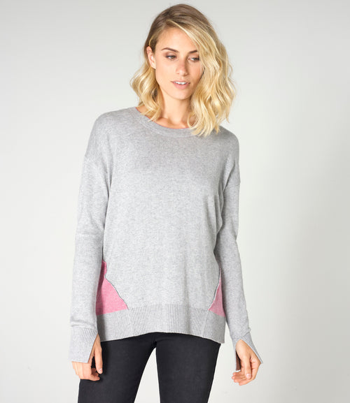 BIRDS EYE TRIM SWEATER