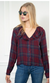 THE AMALIA SHIRT - BURGUNDY & NAVY PLAID
