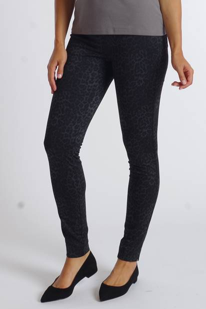 GREY CHEETAH KNIT JEGGINGS