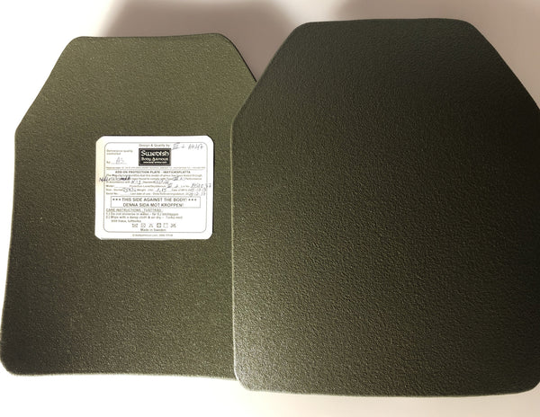 SBA lightweight, Anatomical, Tactical Anti Rifle Plate in 25x30 cm NIJ Level III+ - body-armour.com