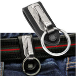 Stainless Steel Detachable Keychain Waist Belt Clip Key Ring Holder - body-armour.com