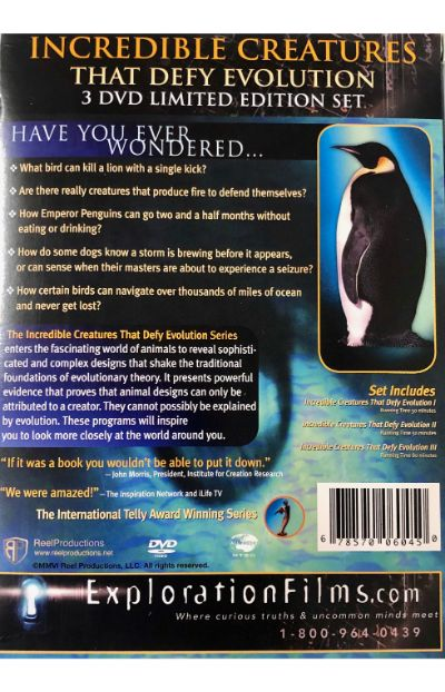 Incredible Creatures That Defy Evolution - 3 DVD Set