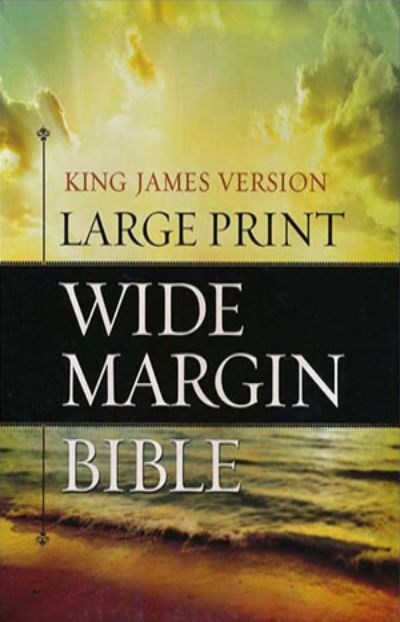 KJV Large Print Wide Margin Bible - Hardcover