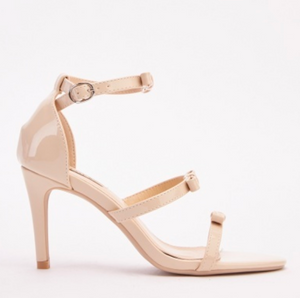 Tonia PVC Bow Strappy Heel Sandals