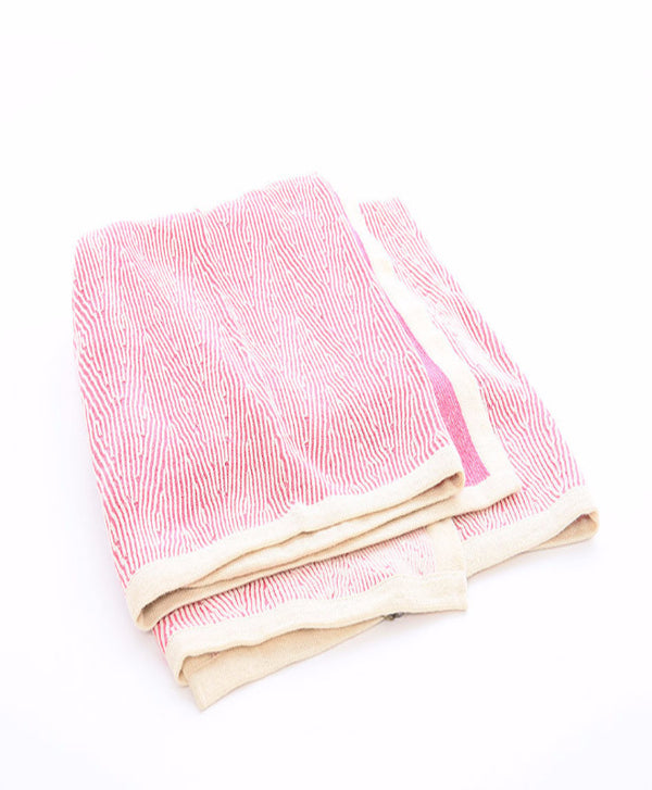 Fuchsia Kimsa Woven Alpaca Throw Blanket - Sefte