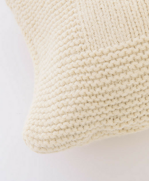 Abrazo Hand Knit 100% Baby Alpaca Bolster Pillow by Sefte Living in Cream
