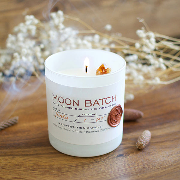 Pink Moon Manifestation Candles: Bonfire Blend - Sefte