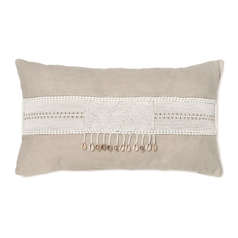 Lamu Nolari Extended Lumbar Pillow in Cream