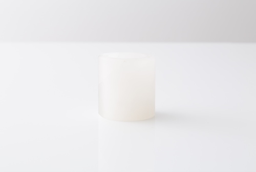 White Onyx Small Matte Candle Holder - Sefte