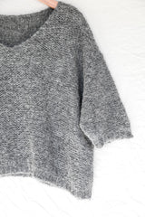 Charcoal Nuna Brushed Sweater - Sefte
