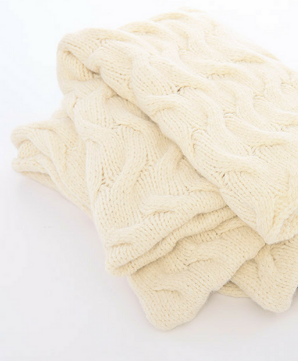 Trenza Knitted Blanket Throw - Sefte