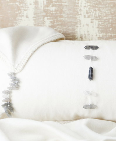 Clear Quartz Lumbar Pillow