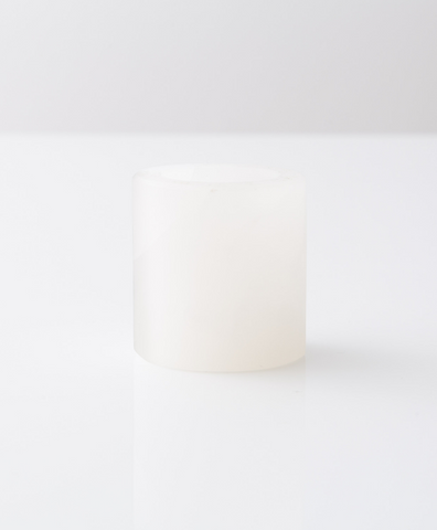 White Onyx Cube Candle Holder