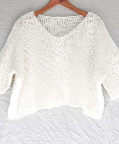 Cream Nuna Brushed Sweater