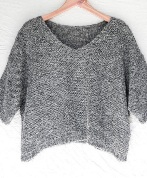 Charcoal Nuna Brushed Sweater