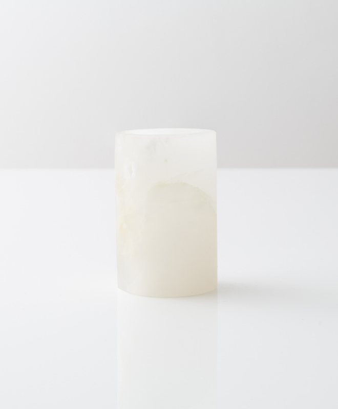 White Onyx Medium Matte Candle Holder - Sefte