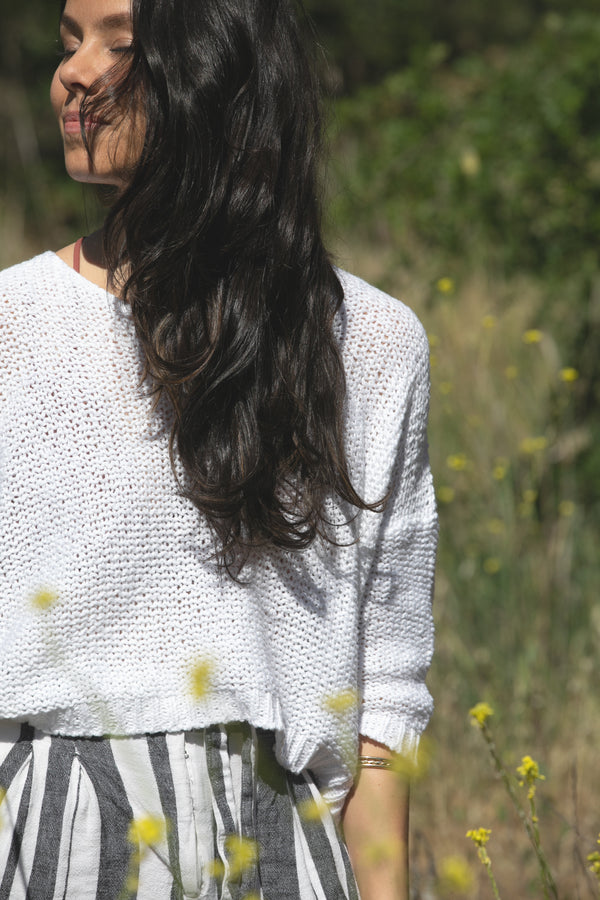 White Cotton Nuna Sweater