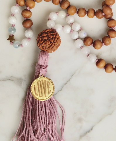Crystal Pink Tourmaline Self Love Mala