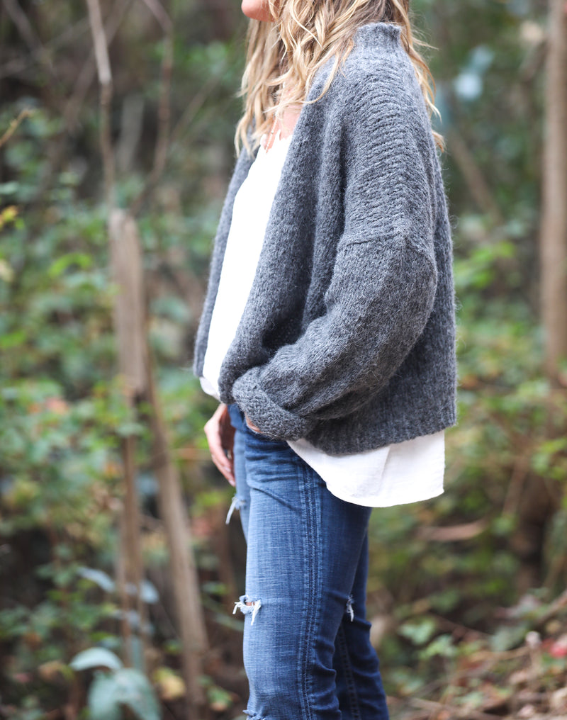 Nuna Cardigan in Charcoal - Sefte