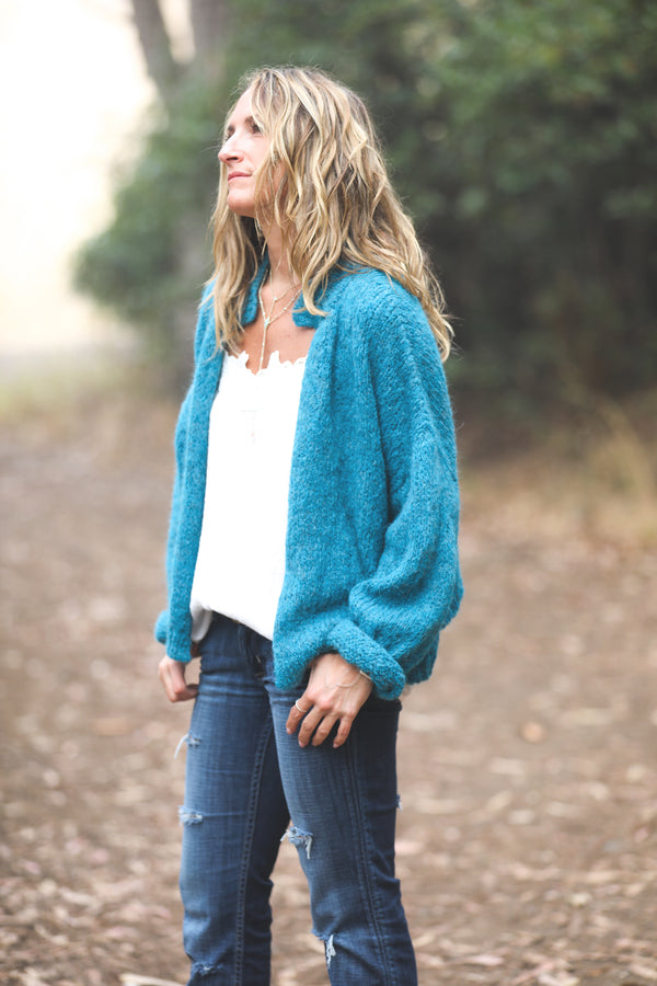 Nuna Cardigan in Peacock - Sefte