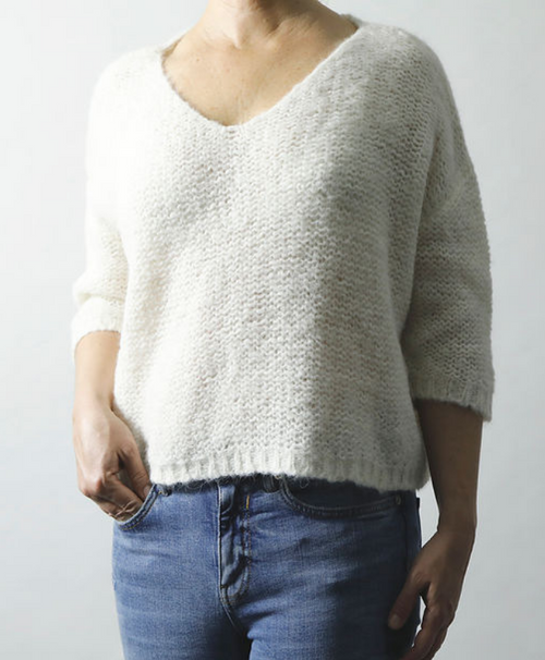 Cream Nuna Brushed Sweater - Sefte
