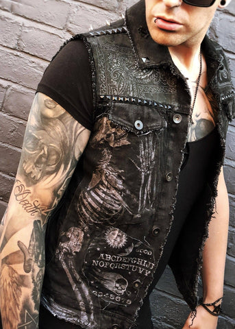 Occult Black Denim Jacket