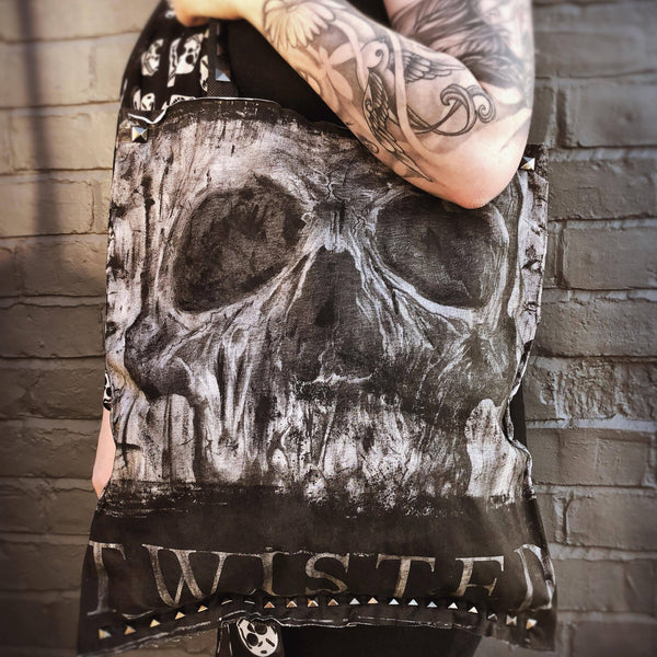 Twisted Skull Tote Bag