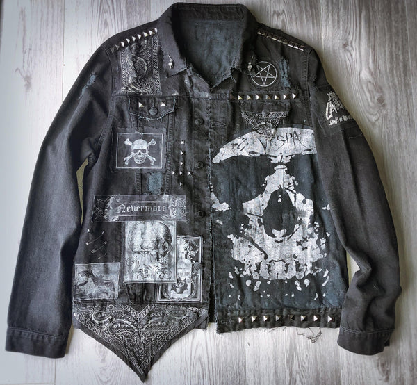 Men's Black Occult Denim Jacket