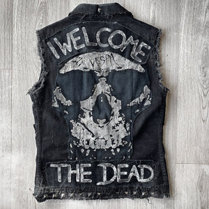 Men's Metal Band Denim Jacket