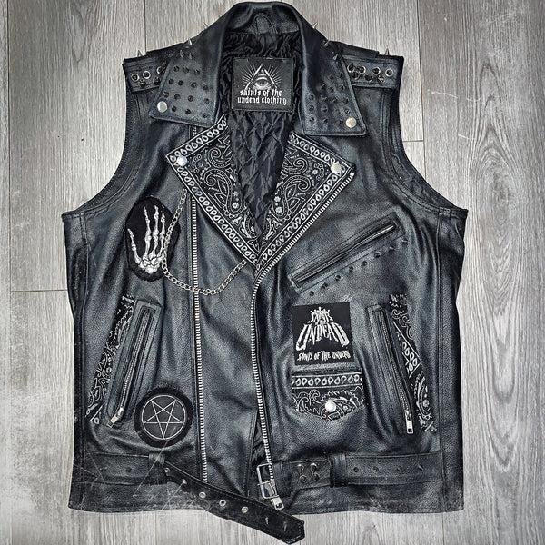 Men's Evil Leather Cut-Off