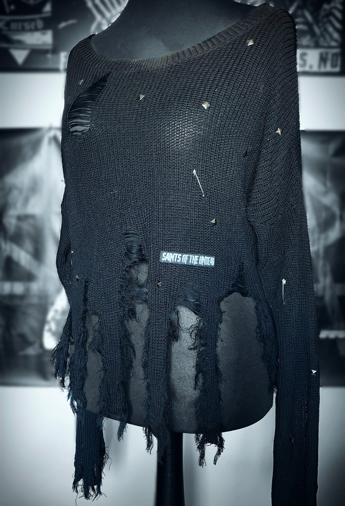 Destroyed Grunge Jumper