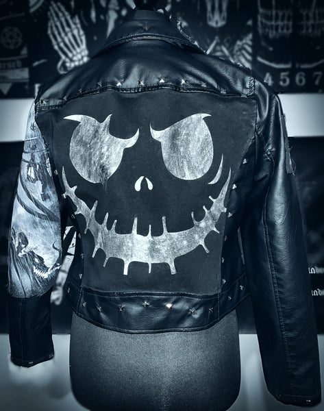 Nightmare Before Christmas Faux Leather Jacket