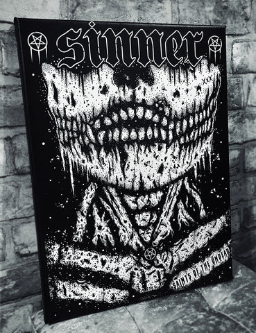 Sinner Canvas Wall Art