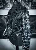 Ladies Motionless in White Leather Jacket
