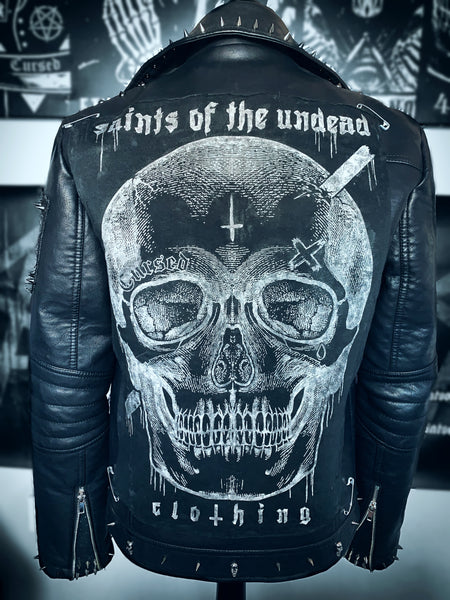 Men's Blackened Leather Jacket