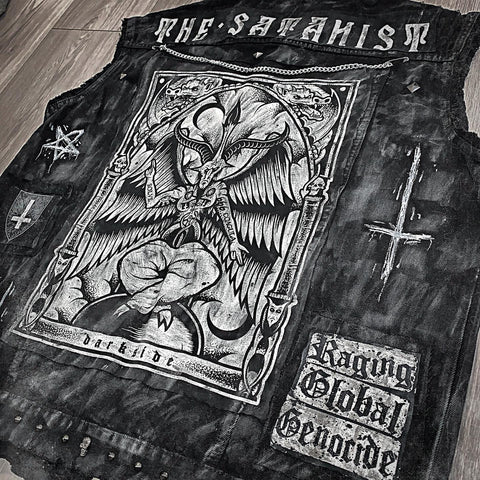Men's 'The Satanist' Denim Cut Off