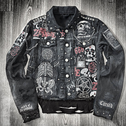 Ladies 'Zombie Vibez' Denim Jacket