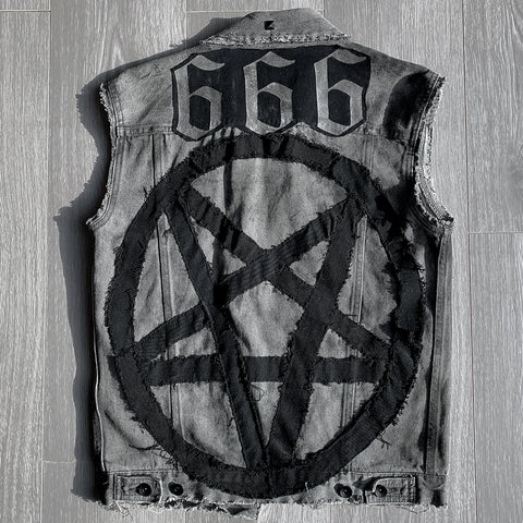 Pentagram Grey Denim Jacket