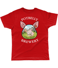 Load image into Gallery viewer, Potbelly Brewery Lager Brau Pump Clip with Wording Classic Cut Men's T-Shirt