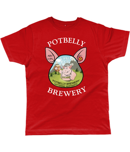 Potbelly Brewery Lager Brau Pump Clip with Wording Classic Cut Men's T-Shirt