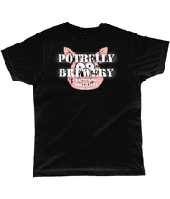 Load image into Gallery viewer, Potbelly Brewery Retro Logo T-Shirt Distressed