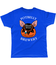 Load image into Gallery viewer, Potbelly Brewery Black Sun Pump Clip with Wording Classic Cut Men's T-Shirt
