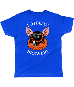 Potbelly Brewery Black Sun Pump Clip with Wording Classic Cut Men's T-Shirt