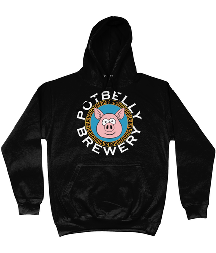 Potbelly Brewery Greek Key Border Pig Circular Text Hoodie