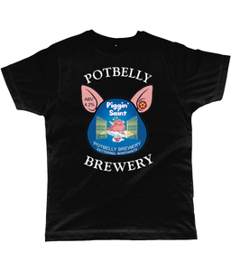 Potbelly Brewery Piggin Saint Pump Clip with Wording Classic Cut Men's T-Shirt